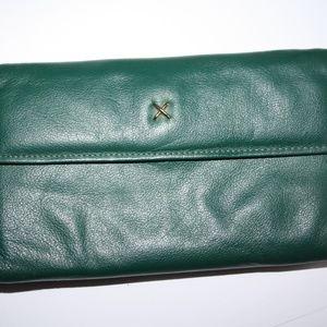Vintage Leather Rolfs wallet Teal